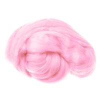 Пряжа для валяния (лента гребенная) 100% акрил 100г 0020-Розовый