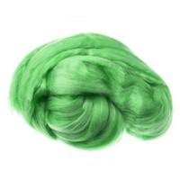 Пряжа для валяния (лента гребенная) 100% акрил 100г 0047-Ярко-зеленый