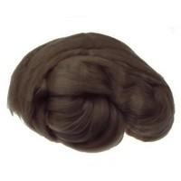 Пряжа для валяния (лента гребенная) 100% акрил 100г 0058-Тёмно-коричневый