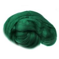 Пряжа для валяния (лента гребенная) 100% акрил 100г 0062-Тёмно-зелёный