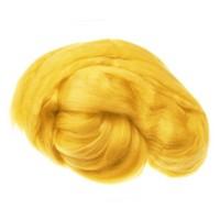 Пряжа для валяния (лента гребенная) 100% акрил 100г 0216-Канарейка