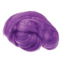 Пряжа для валяния (лента гребенная) 100% акрил 100г 0247-Пурпурный