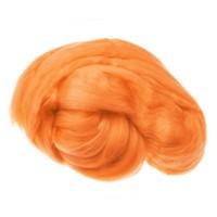 Пряжа для валяния (лента гребенная) 100% акрил 100г 0655-Ярко-оранжевый